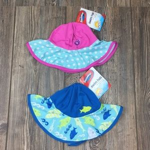 Swim Hats One Size Fits Most Kids and Babies  NEW
